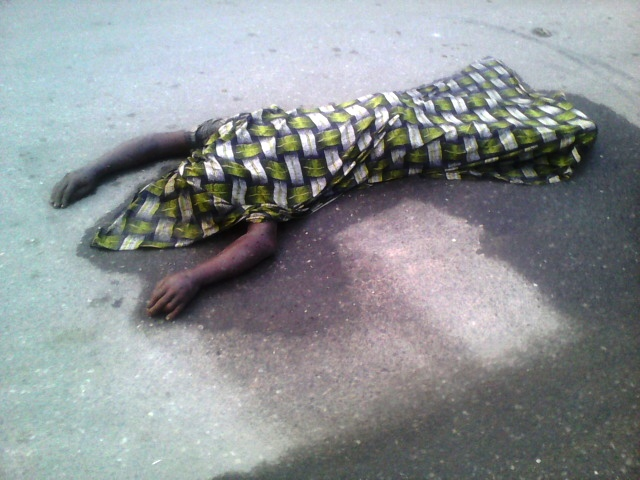 The body lying on the street