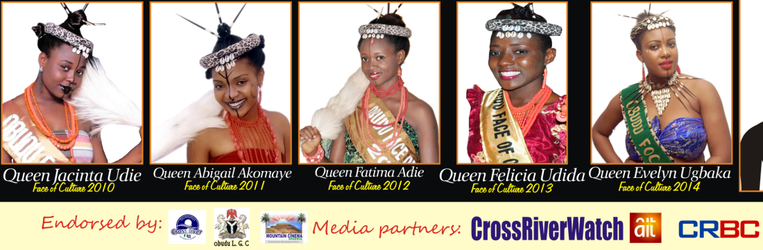 Faces of previous and the reigning Obudu Face of Culture queens