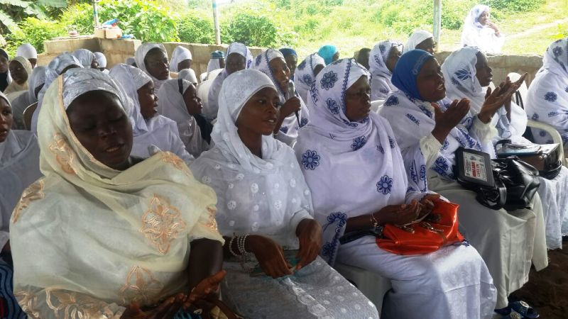 Cross section of congregants at the event