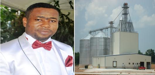 Emmanuel Etim and a feed mill