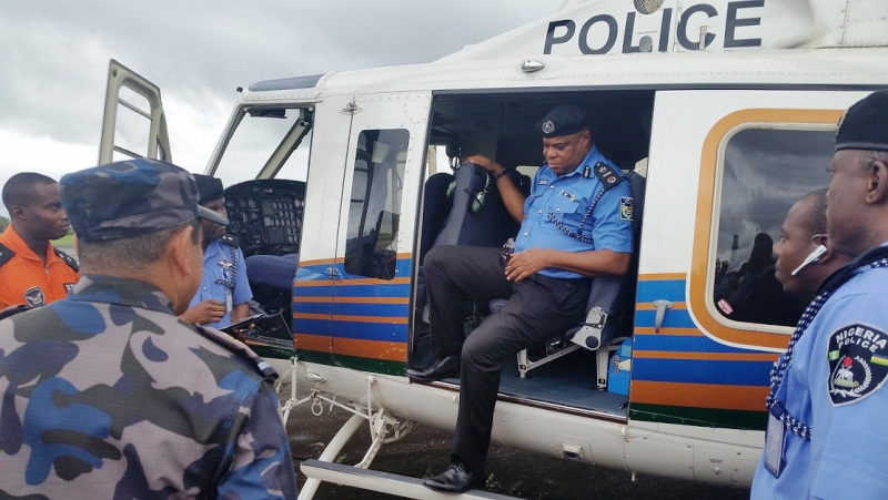 AIG Zone 6, Tunde Ogunsakin while taking delivery of the helicopter in Calabar