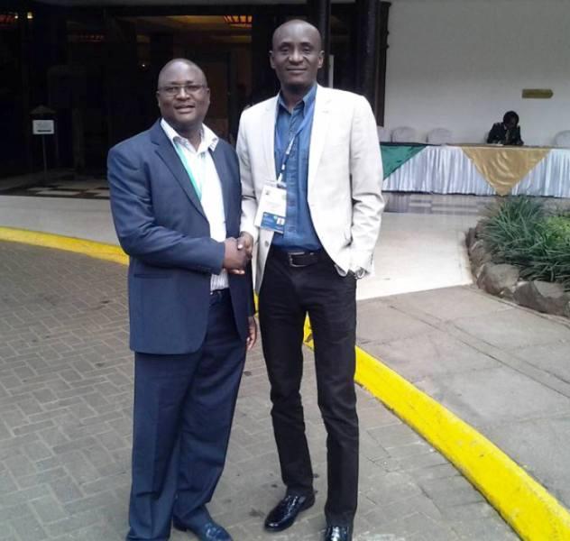 Cross River Speaker, Hon. John Gaul Lebo (right) with Hon N'tla tla Member of Parliament Kwazulu Natal South Africa in Nairobi
