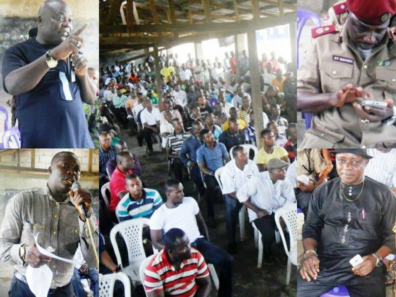 The interactive session between taxi drivers and security chiefs in Cross River state