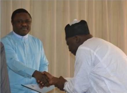 Governor Ayade and representative of the President of JUSUN after signing the MoU