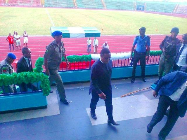 Governor Ayade inspects U.J. Esuene Stadium ahead of Independence anniversary tomorrow