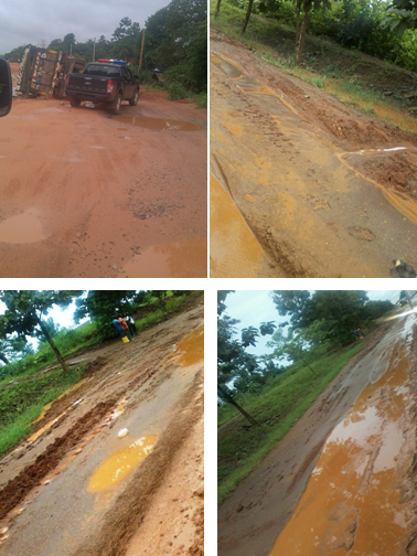 Some of the bad roads