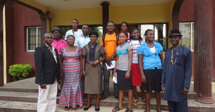 Cross section of students and staff of St. Joseph's Orphanage School.