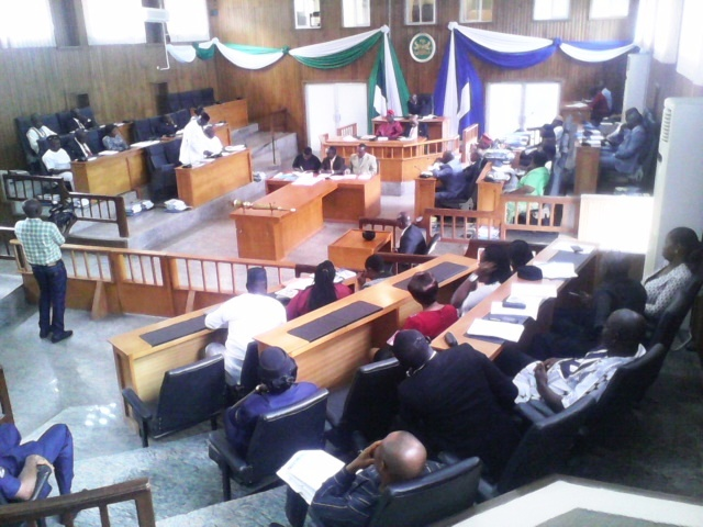 Cross River State House of Assembly members in plenary