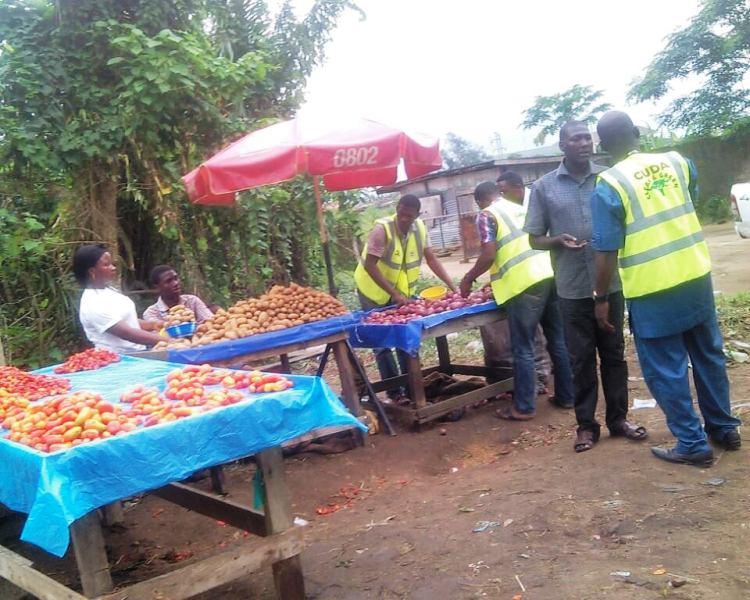 CUDA staff confiscating Salisu's goods
