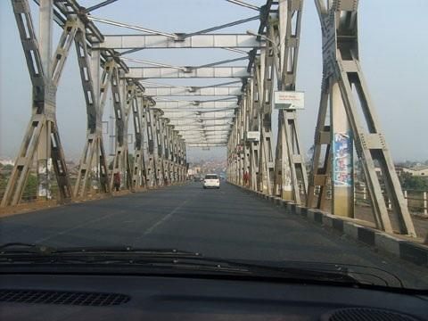 Ikom River Bridge, where the vehicle plunged