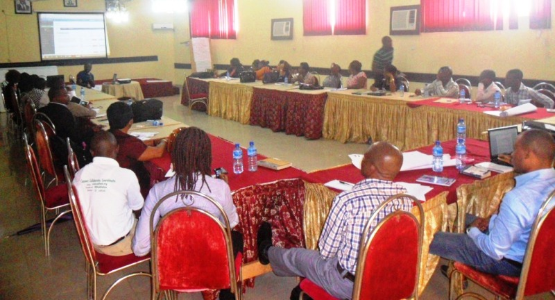 Cross section of the participants in the training