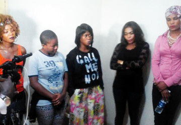 The suspects paraded by NAPTIP in Lagos