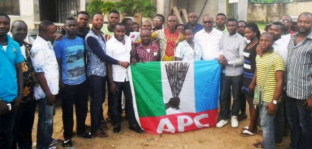 Members of the APC youth league at the inauguration