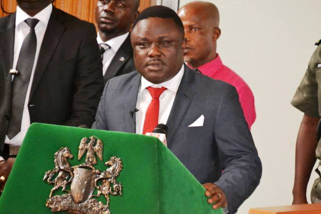 Governor Ayade presenting the 2016 budget to the Assembly this morning