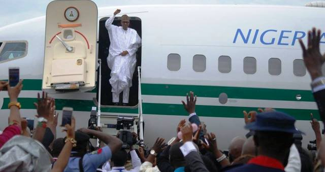 President Buhari arriving Calabar this morning