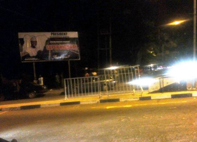 Calabar tonight with billboards welcoming Mr. President