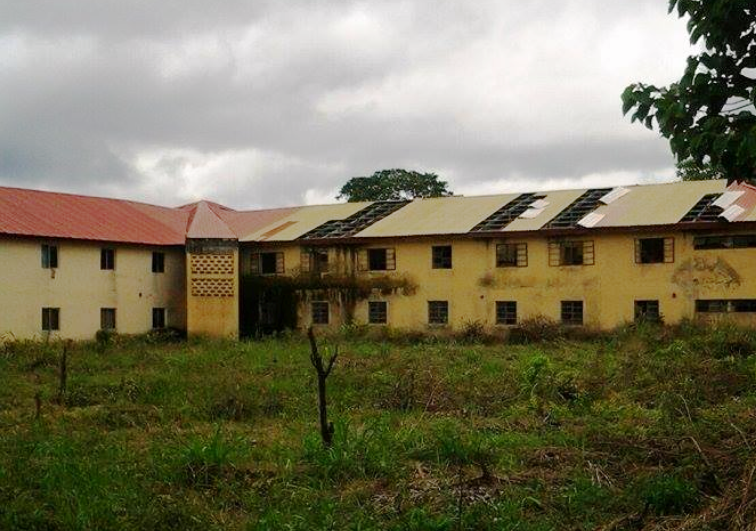 Leaking roof and broken sewage pipes in the female hostel of FCE, Obudu