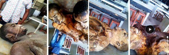 Bodies of victims of the extra judicial killings in Calabar. The bodies which were exclusively discovered by CrossRiverWatch at the UNICAL anatomy department are yet to be buried.