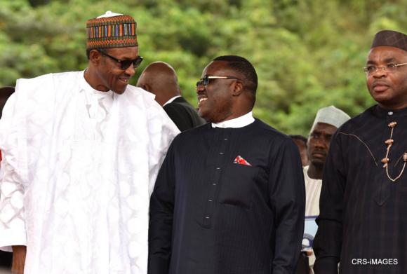 PMB, Governor Ayade and Governor Udom of Akwa Ibom