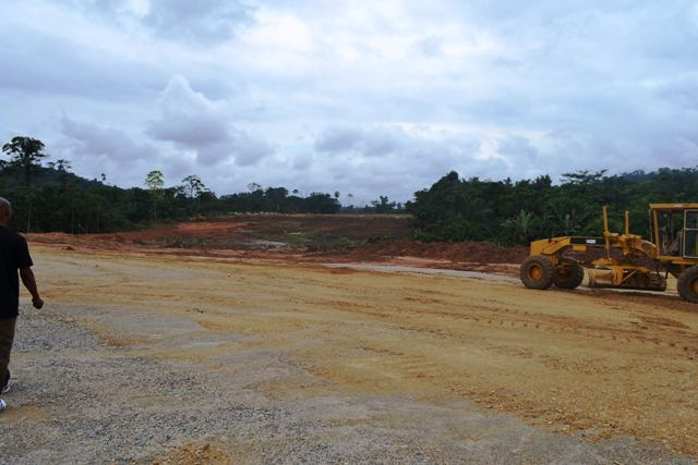 Ongoing clearing of the project site for the super highway