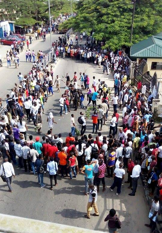 unical shut students protest it s mid term vc