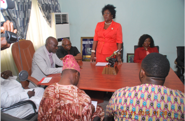 Speaker, John Gaul in a meeting with a delegation from the NIPR in his office