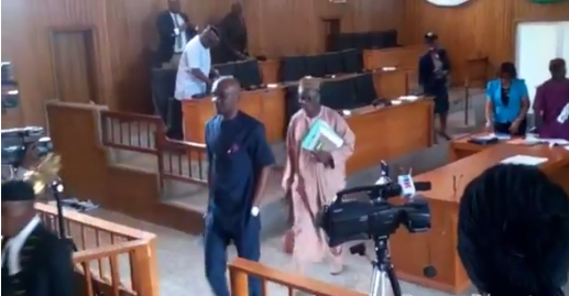 Speaker, Hon. John Gaul Walking out after adjourning plenary due to power cut today
