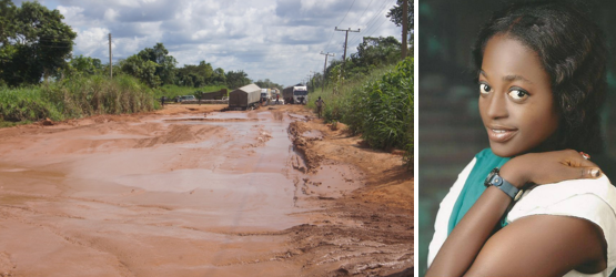 Ukung Alawa - dreaming of a super highway to replace this bad one?