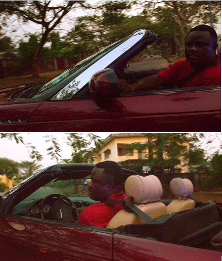 Governor Ayade test driving his 2014 Chrysler Sebring Convertible on Sunday in readiness for the exotic cars carnival which did not hold