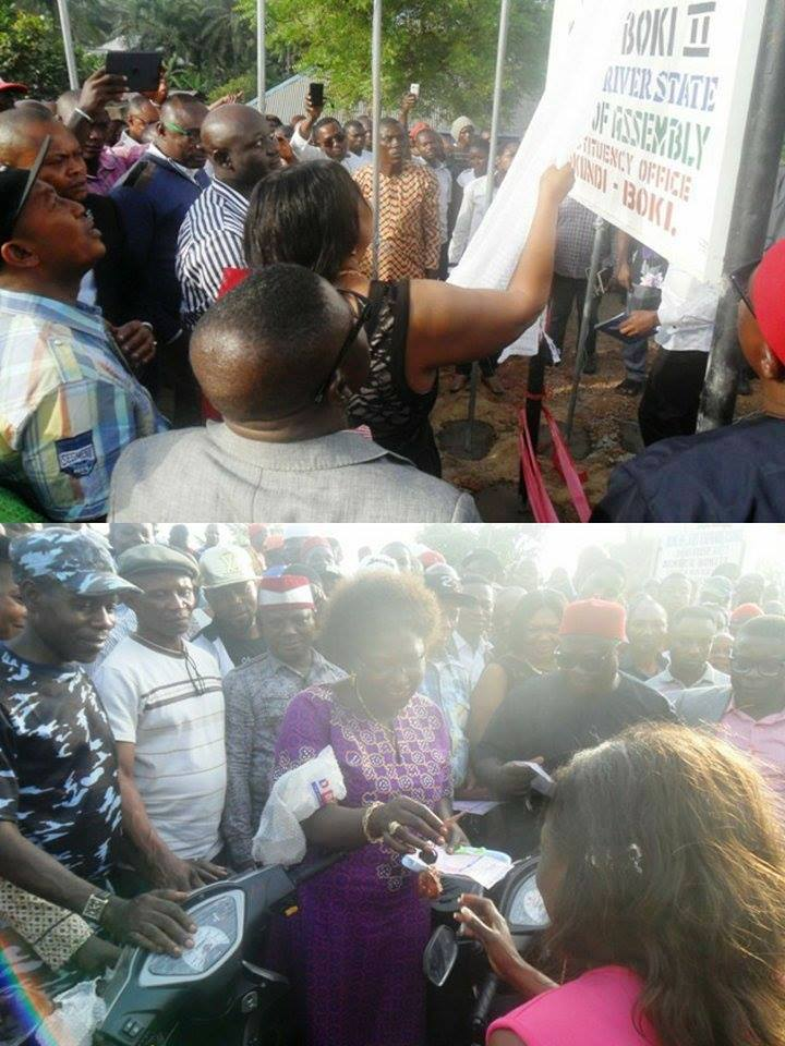 Commissioning of Constituency office and distribution of empowerment materials by Hon. Hilary Bisong in Boki