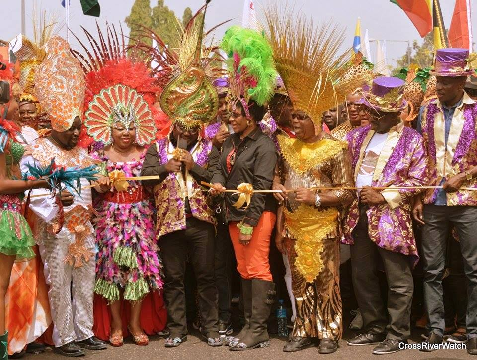 Governor Ayade flagging off the carnival yesterday
