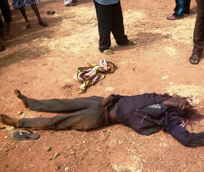 The late fuel attendant after being shot by the fleeing gunmen