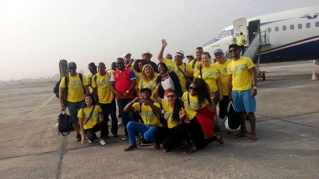 The Vai Vai Samba Band of Brazil on arrival at the Margaret Ekpo Airport, Calabar
