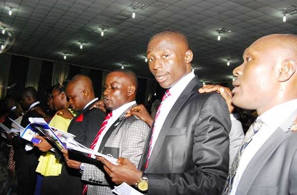 Cross section of the oath taking ceremony for the new doctors