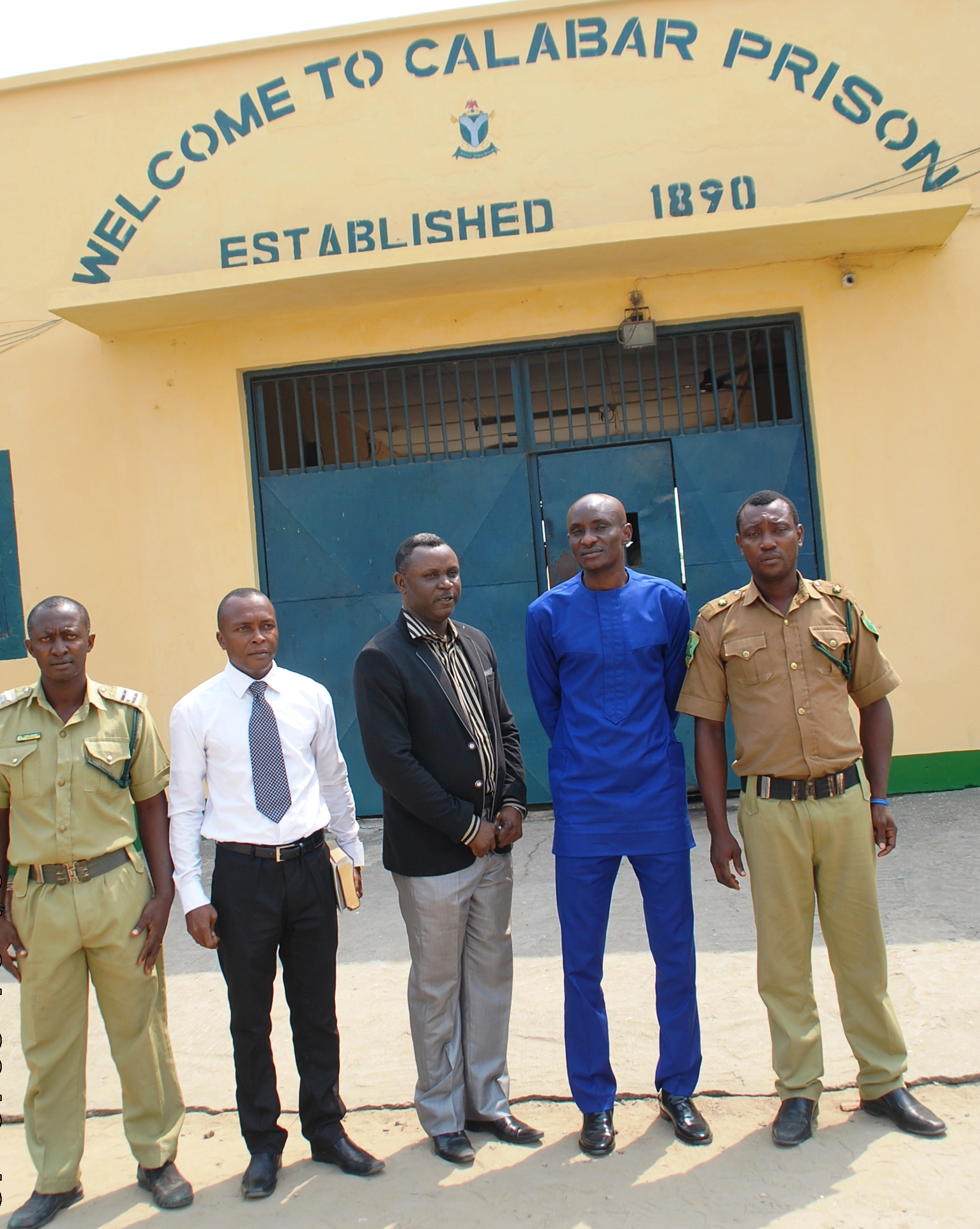 Speaker (2nd from right) at the Prison fellowship