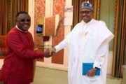 Ayade Meets Buhari At State House, Wants President To Commission Calabar Monorail