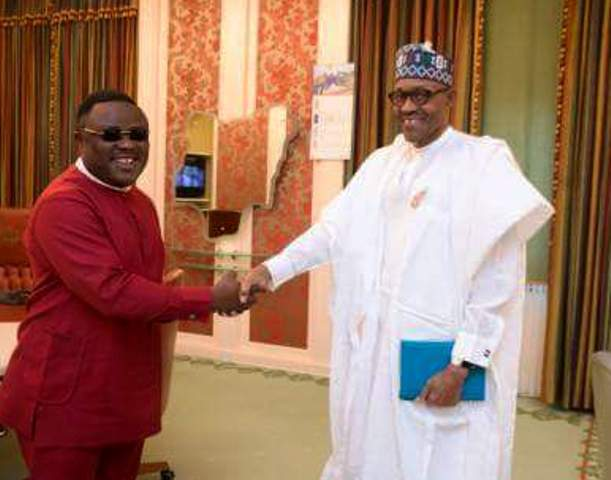 President Buhari and Governor Ayade at the State House, today