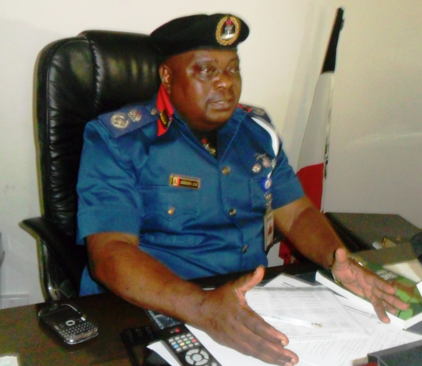 Adesuyi Dayo, Commandant Nigeria Security and Civil Defence Corps (NSCDC) in Cross River