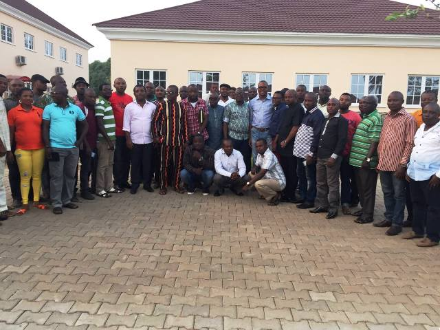 Members of Cross River Mainstream in a group photograph after the launch