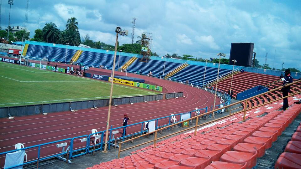 UJ Esuene Stadium, Calabar - hosted matches of the Super Eagles and the Golden Eaglets between 2012 and 2014, as well as long campings for the Golden Eaglets ahead of their triumph at the 2013 FIFA U-17 World Cup in the United Arab Emirates