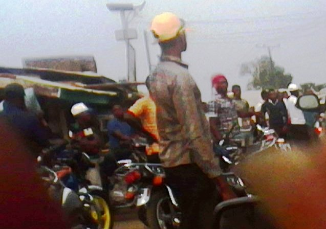 Bakassi bikers protesting