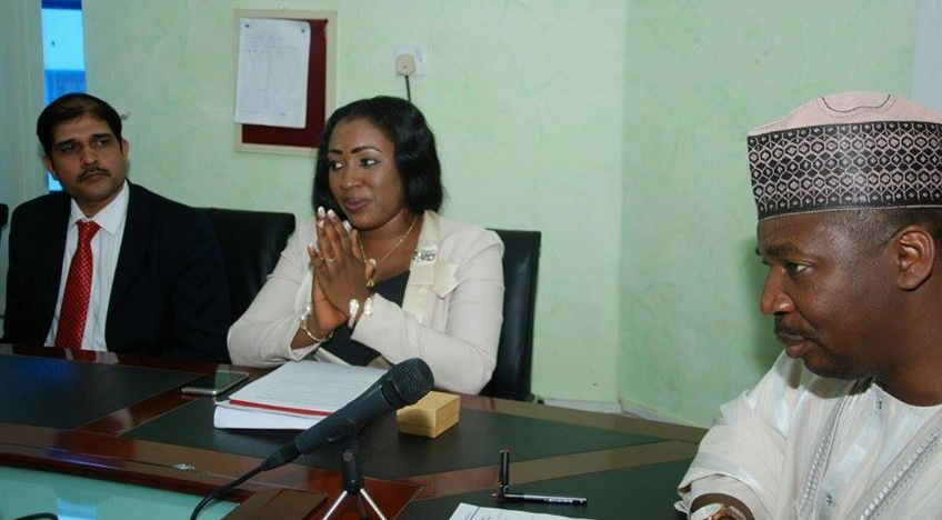 Dr. Betta Edu, Special Adviser, Community and Primary Health to Governor Ayade, at a meeting with the Executive Director and Chief Executive Officer of the National Primary Health Care Development Agency, Dr. Ado Muhammed in Abuja