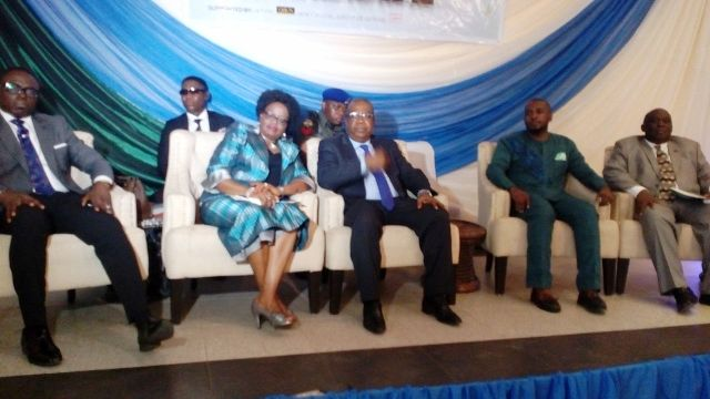 Professor Ivara Esu, Cross River Deputy Governor (middle) and other top government officials at the event