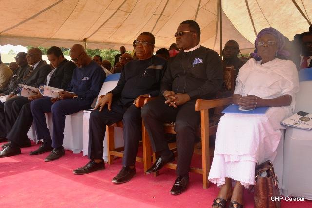 Governor Ayade and his Deputy, Ivara Esu, Former Governors Imoke, Duke and Ebri at the funeral of former deputy governor, Elder Walter Eneji