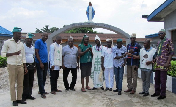 Delegation of the club members at the orphanage