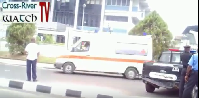 Ambulance service conveying casualties to hospitals after the explosion