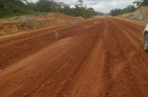 Ongoing work on a section of the superhighway