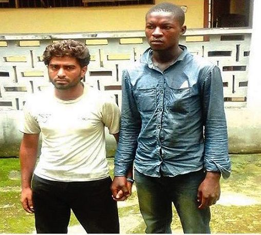 Arrested Pakistani and his Cameroonian accomplice