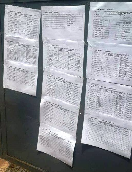 Alleged fake delegates list used for the botched election