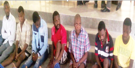 Paraded suspects